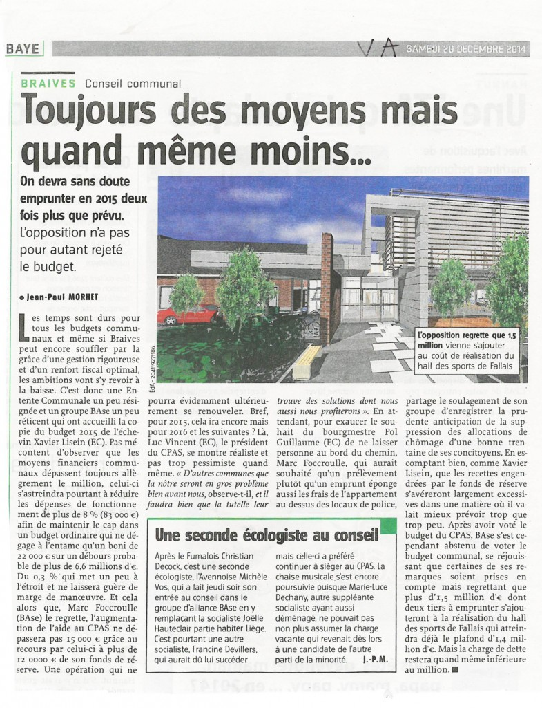 Vers l'avenir article